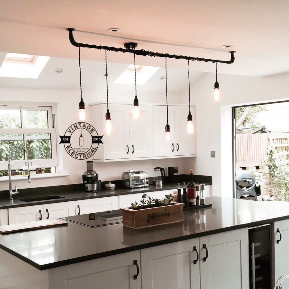 The Burnham 6 X Pendant Drop Light Hanging Lights Ceiling Dining Room Retro Kitchen Table Vintage Edison Filament
