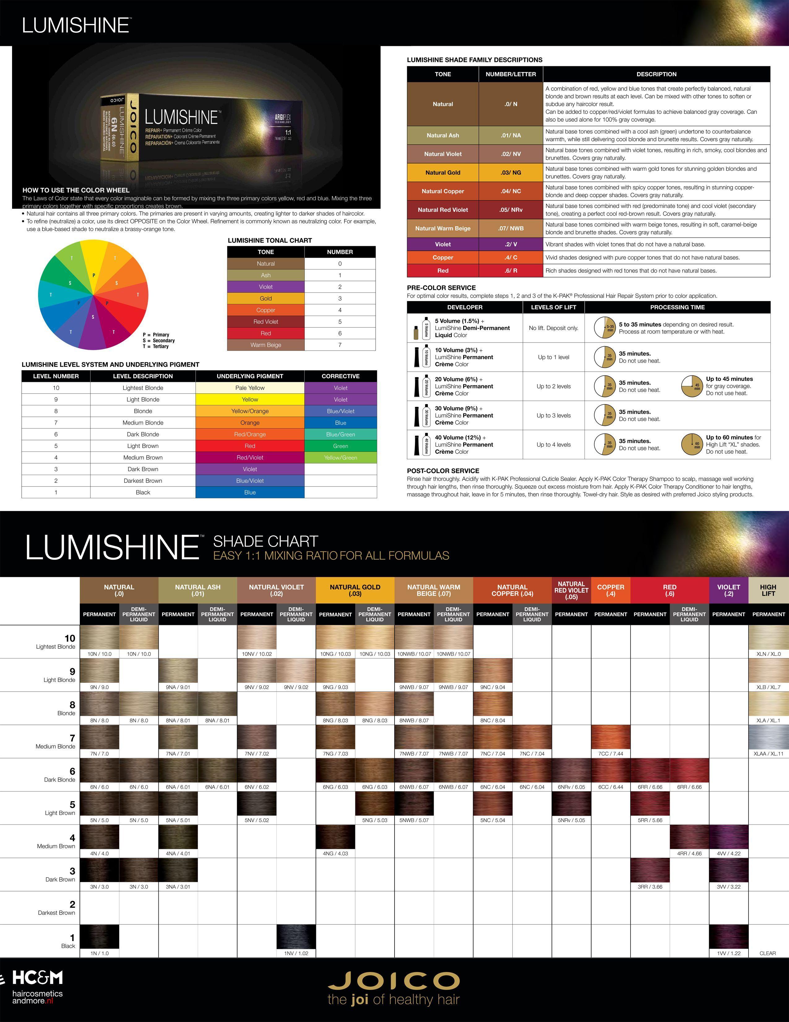Joico Lumishine Shade Chart Chart Joico Lumishine Shade In 2020 Hair Color Chart Redken Color Chart Redken Color Fusion Chart