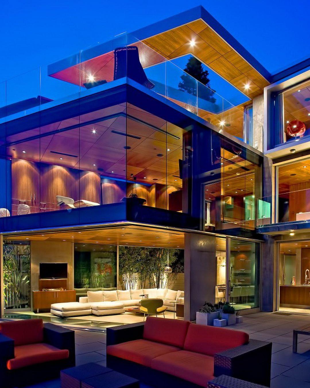 Luxury Modern House Design With Glass Modern Beach House Modern House Design Fancy Houses