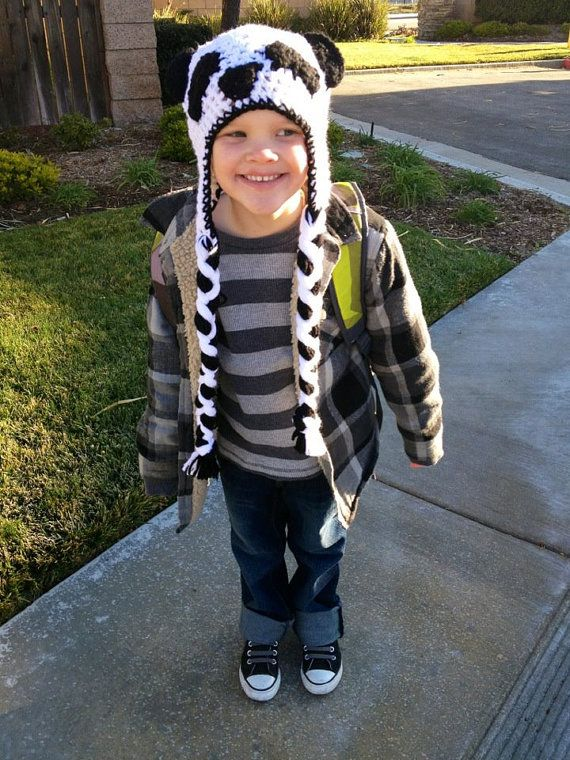 Panda Hat for Boys by TheLovelyyarns on Etsy, $20.00