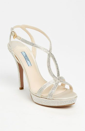 If We Ever Have A Wedding Ceremony These Are My Shoes Prada Crystal Platform Sandal Available At Nordstrom