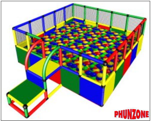 QUADRO based compact, fun ballpits for all kids indoor play and