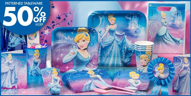 Cinderella Party Supplies Birthday Decorations