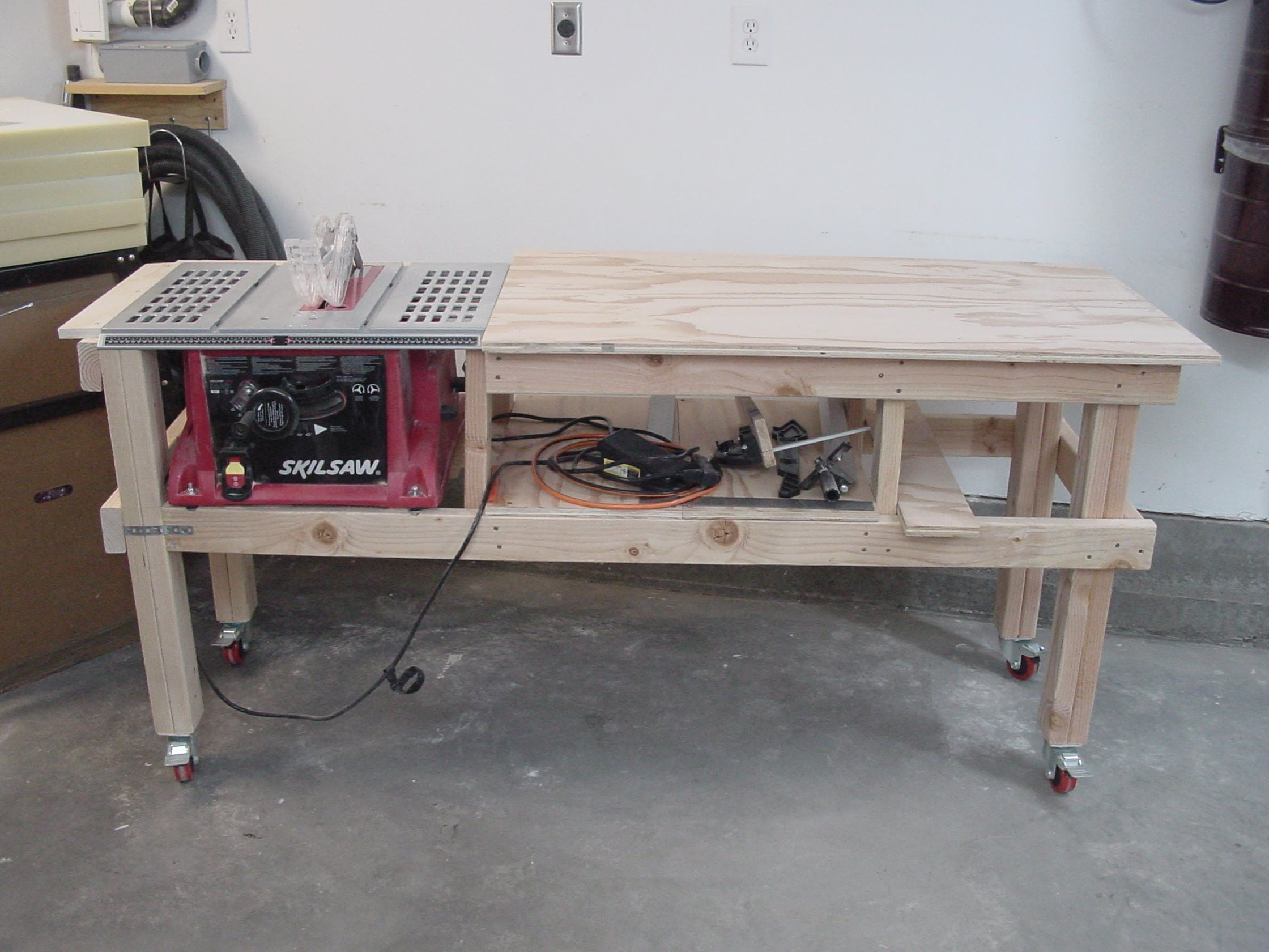 Combination Saw Bench Part - 24: Bildergebnis Für Rolling Table Saw Station