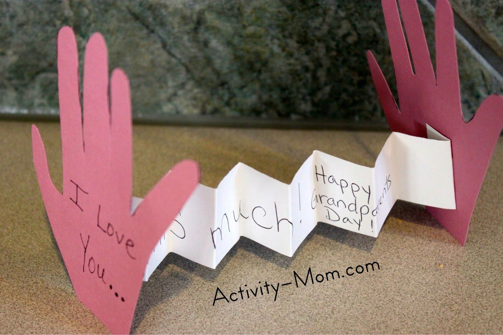 grandparents crafts and activities | Grandparents Day is nearing and we needed a cute, personalized way to ... #grandparentsdaycraftsforpreschoolers