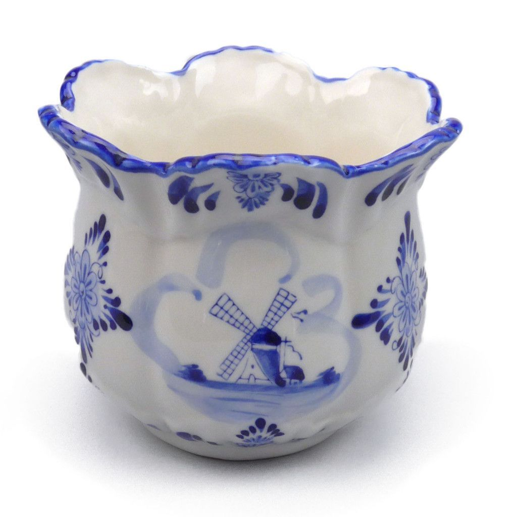 Decorative Flower Pot Delft Blue
