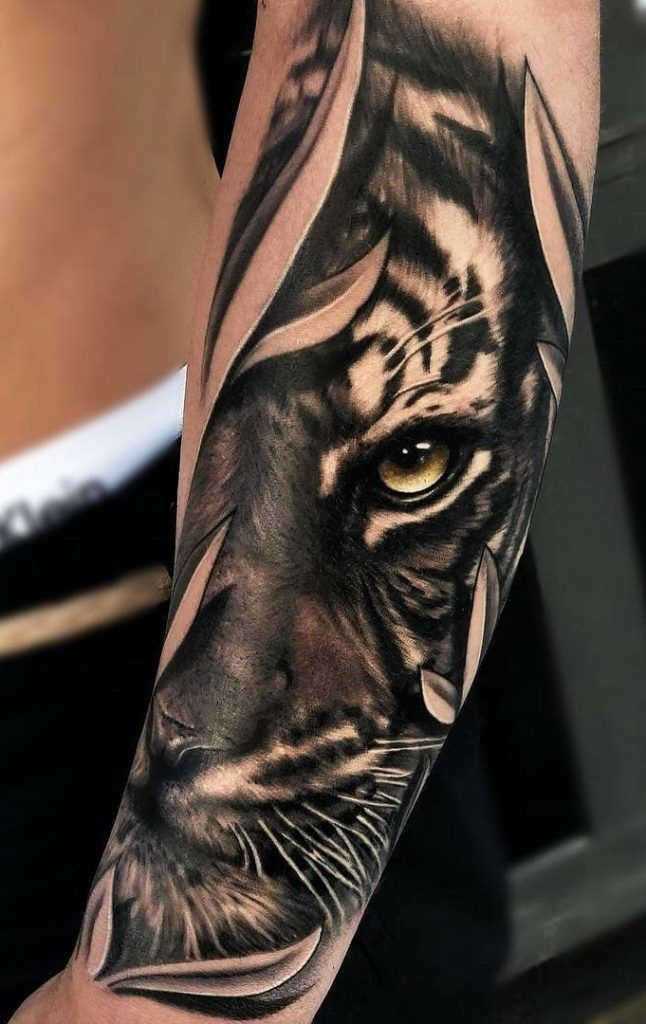 Photo of 120 tatouages ​​incroyables de tigre! [Masculinas e Femininas] | Tatouages ​​impressionnants