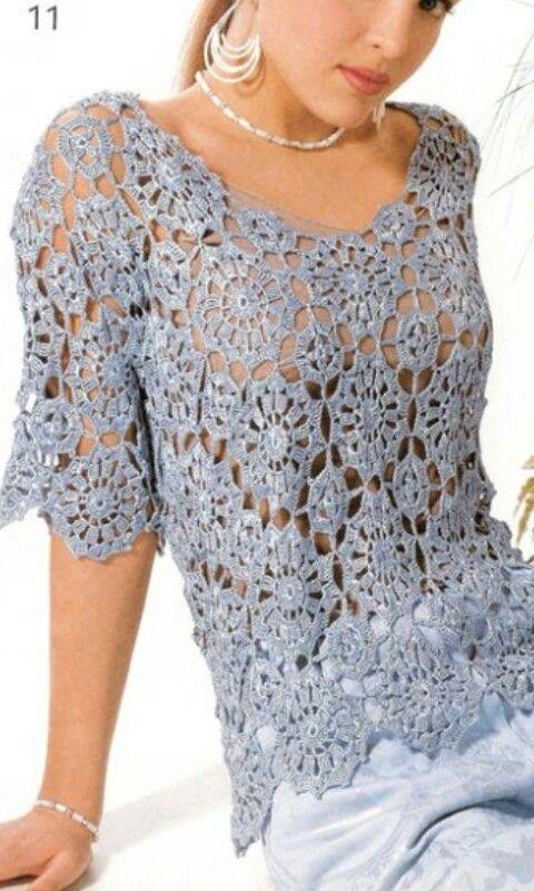Pin von Aquelina Gonzalez auf Crochet clothes | Pinterest