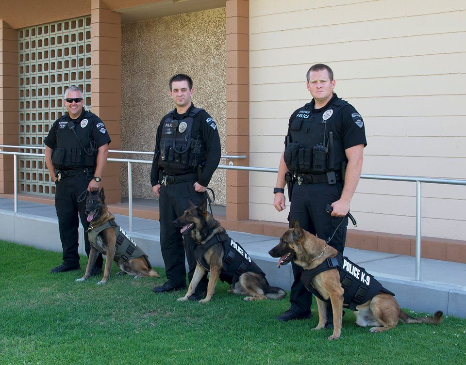 Rialto Police Department Military Working Dogs K9 Officer Working Dogs