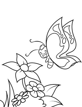 Ausmalbild Schmetterling Mit Blume Ausmalbilder Schmetterling Lustige Malvorlagen Ausmalen