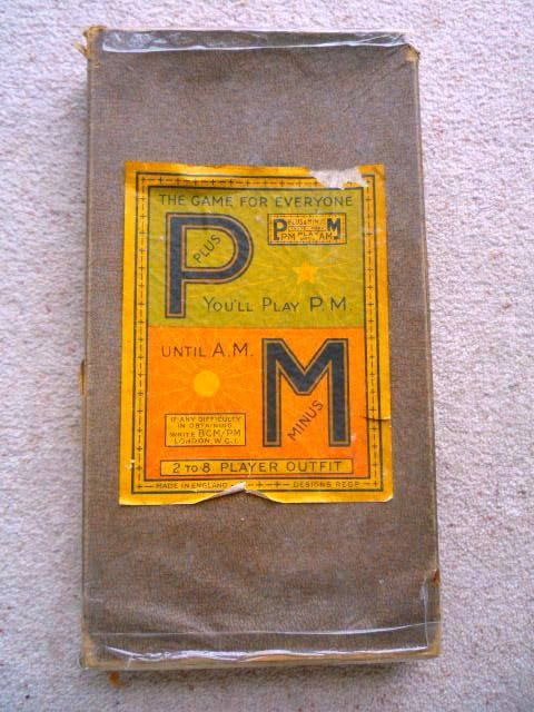 Plus & Minus 1930s Board Game Collectible Vintage Board Game
