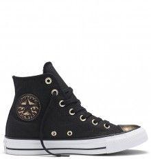 Converse černé metalické tenisky Chuck Taylor All Star Black Light gold f000c0f908