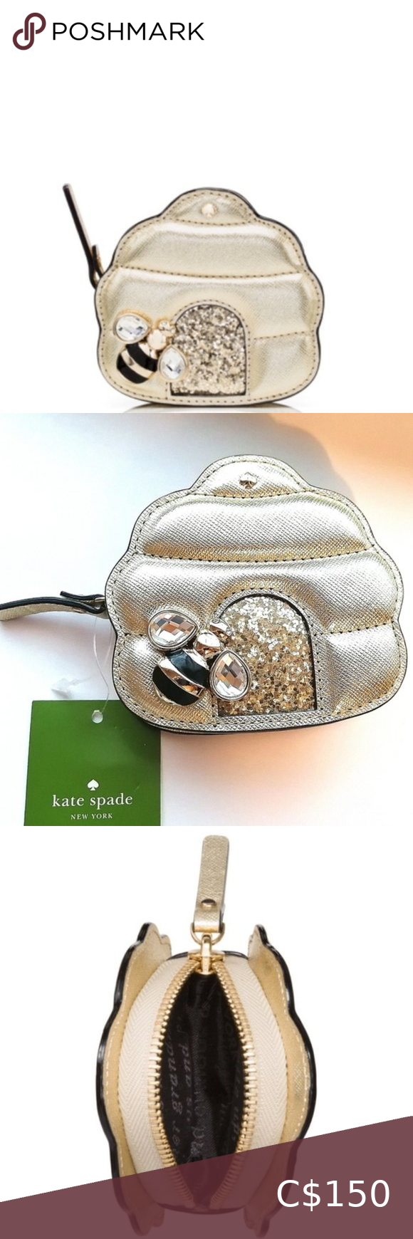 Kate Spade Down The Rabbit Hole Bee Coin Purse