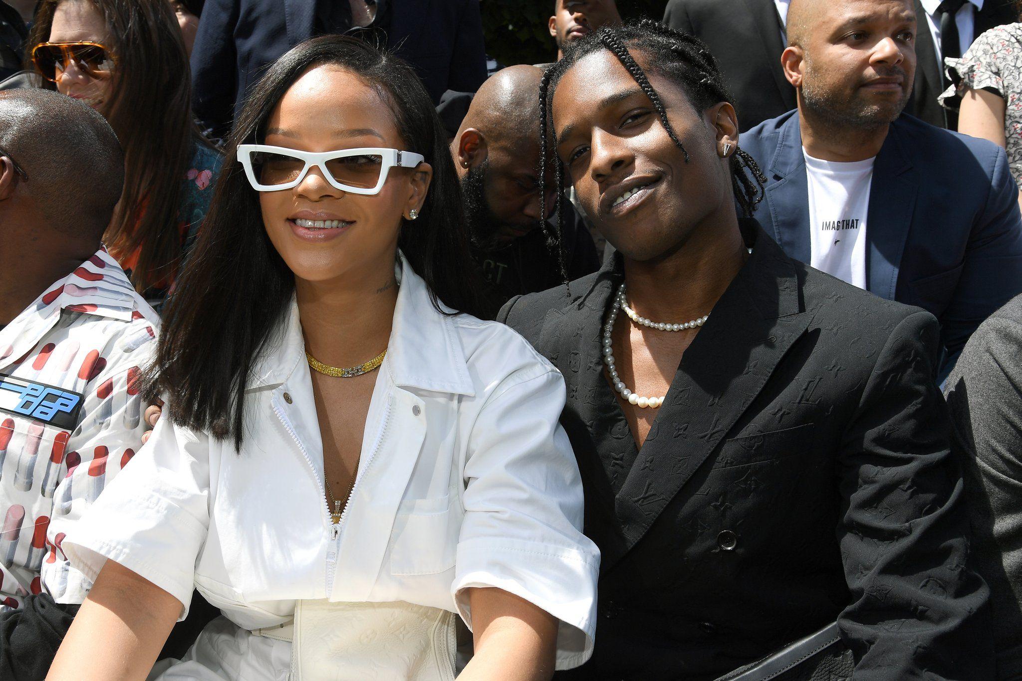 Rihanna Gets Cozy With Ex-Flame A$AP Rocky at the Louis Vuitton Runway Show in Paris | Rihanna photos, Rihanna, Fashion