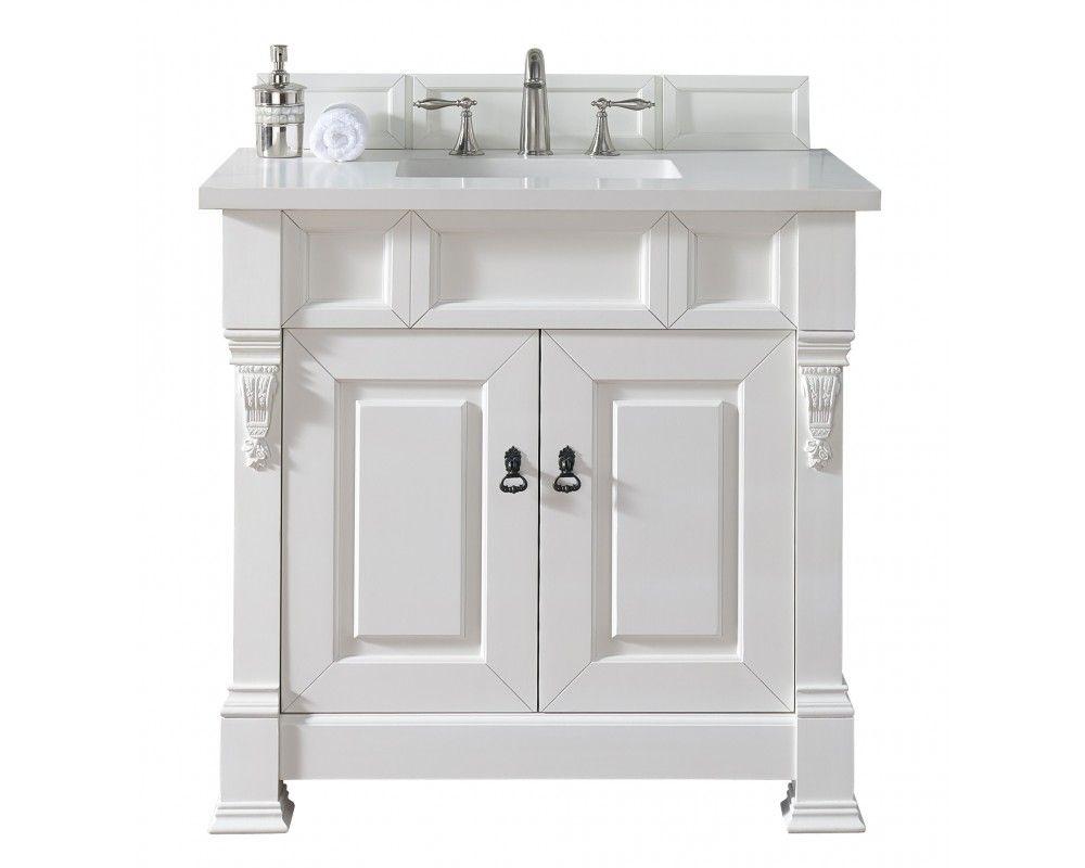 Bosco Brookfield 36 Cottage White Single Bathroom Vanity Single Bathroom Vanity Vanity Sink Unique Bathroom Vanity