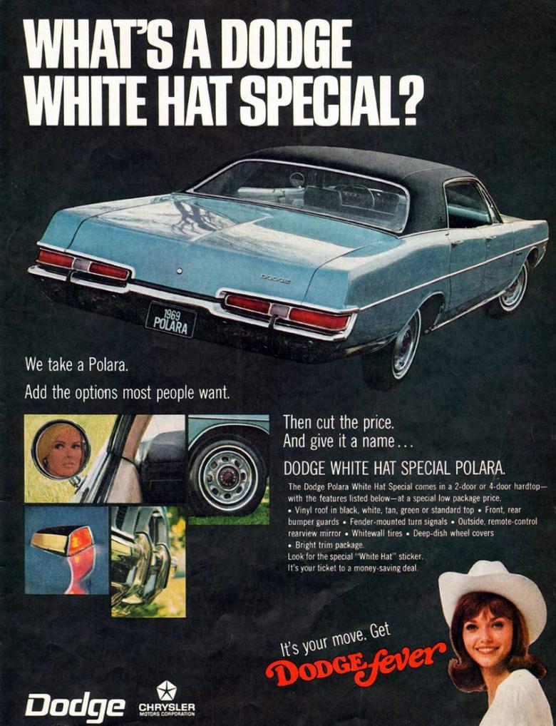 1969 Dodge Polara White Hat Special Vintage Cars Dodge Classic Cars