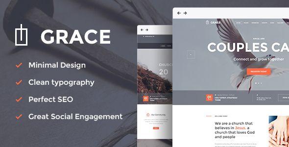 Grace - Church & Religion WordPress Theme | Pinterest | Modelo