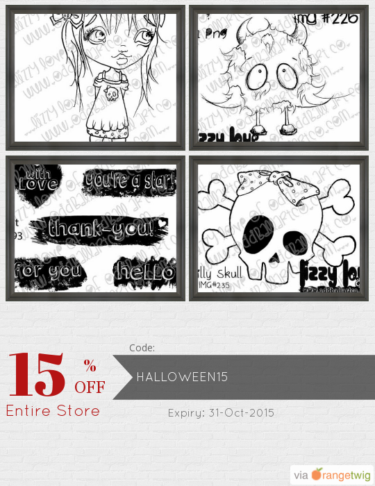 We are happy to announce 15% OFF our Entire Store. Coupon Code: HALLOWEEN15 Click here to view all products:  Click here to avail coupon: https://orangetwig.com/shops/AABQGY9/campaigns/AABiAjt?cb=2015011&sn=OddballArtCo&ch=pin&crid=AABiAjw