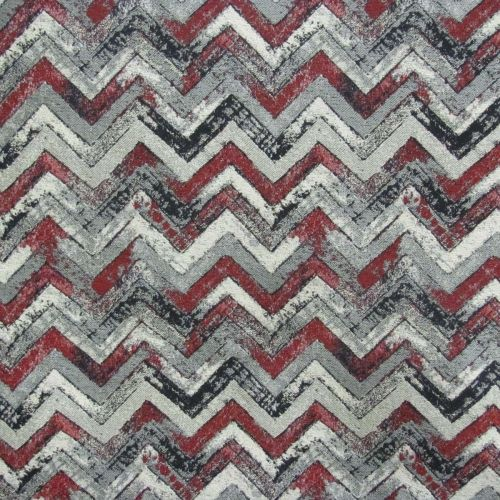 Swavelle Mill Deri Crimson Upholstery Fabric Great Scarlet And Grey