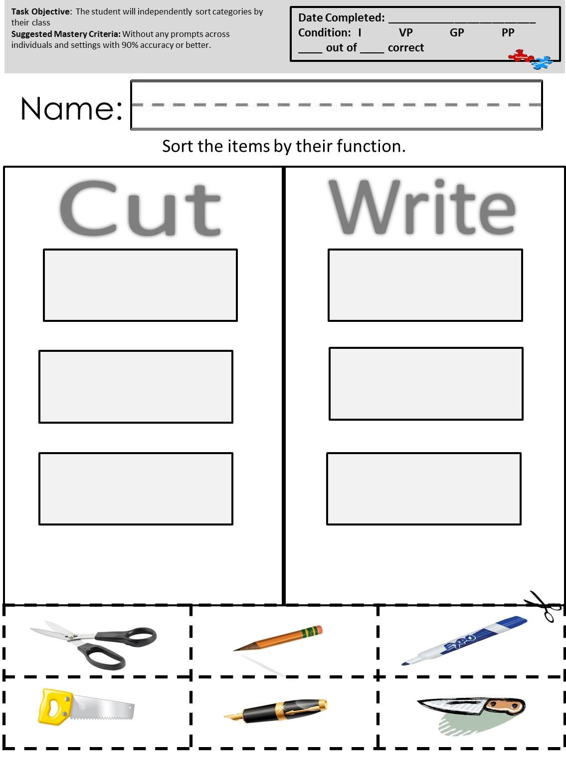 Practice Important Skills Easily With These Worksheets Available At Autismcomplete
