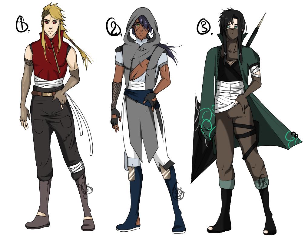 marvelous anime ninja outfit male 2017