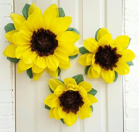 Pompom Pom Pom Paper Sunflower Birthday Wedding Venue Decoration
