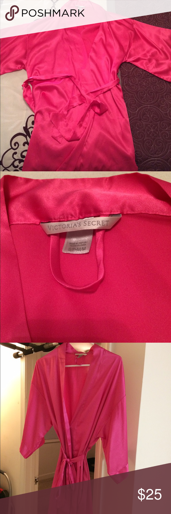 Hot pink Victoria Secret robe Hot pink Victoria Secret robe ...