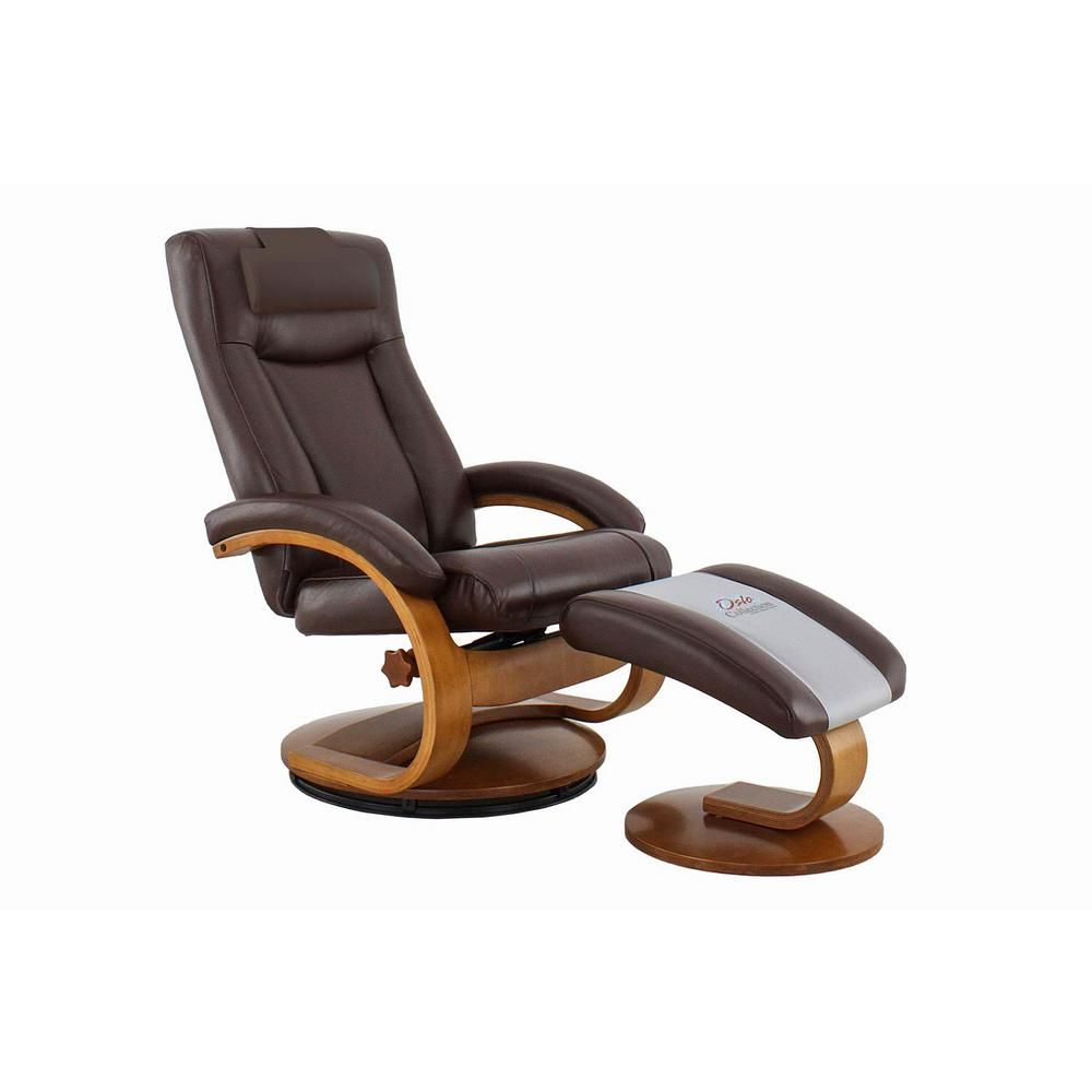 Relax R Hamilton Whisky Air Leather Recliner And Ottoman