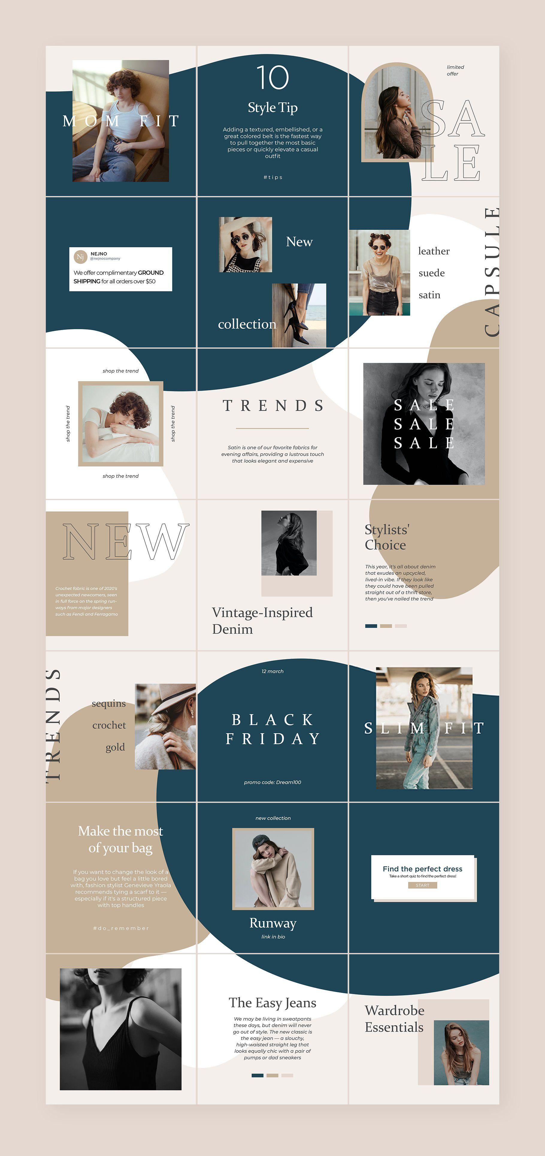 Instagram Puzzle Template Vienna In 2020 Instagram Design Layout Instagram Template Design Instagram Grid Design