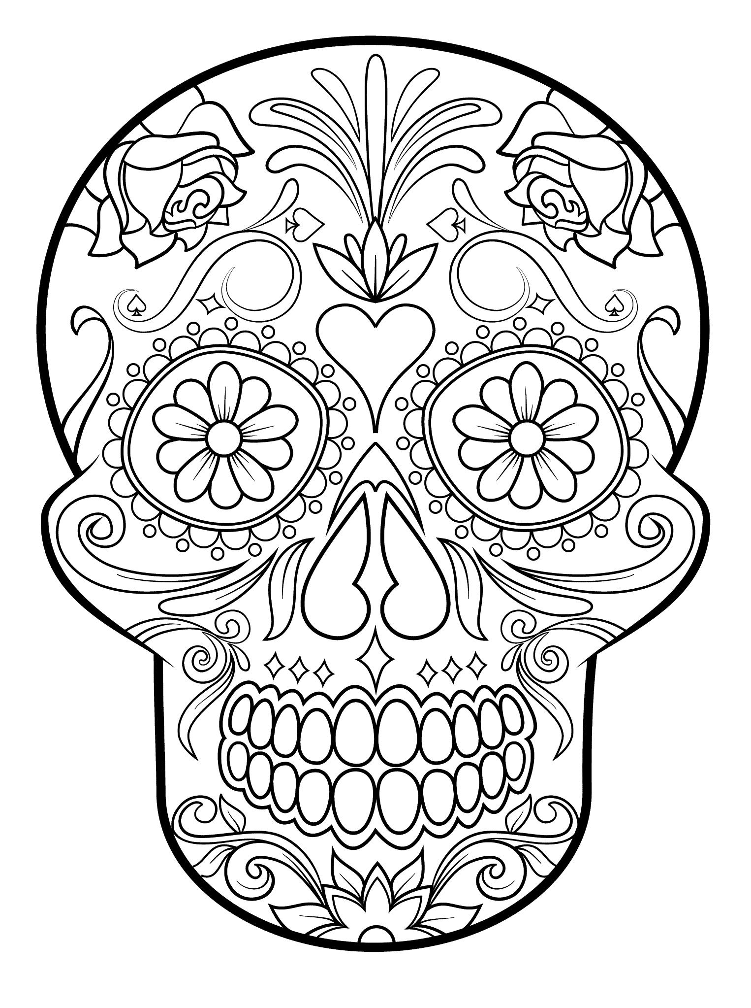 Mexican Mandala Coloring Book Dibujo De Calaveras Mexicanas Para