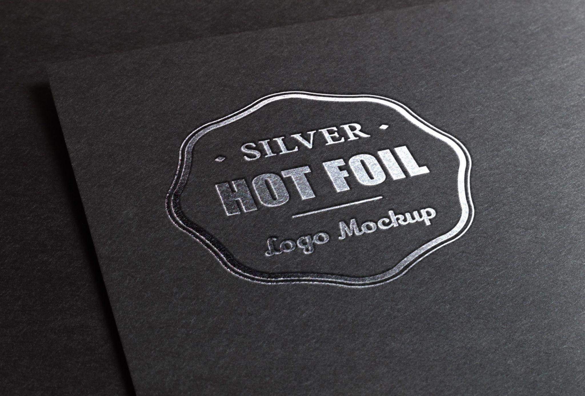 Mockup Logo estampación plata | Consigue un efecto metálico de la ...