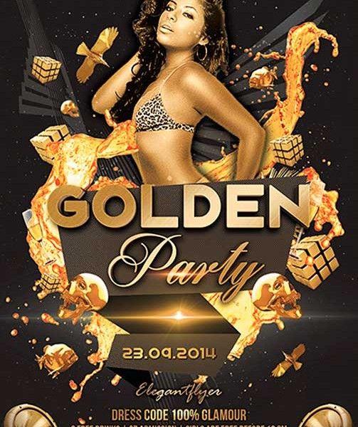 Golden Party Free Flyer Psd Template Psd Download Free Psd Flyer Templates Free Psd Flyer Birthday Flyer