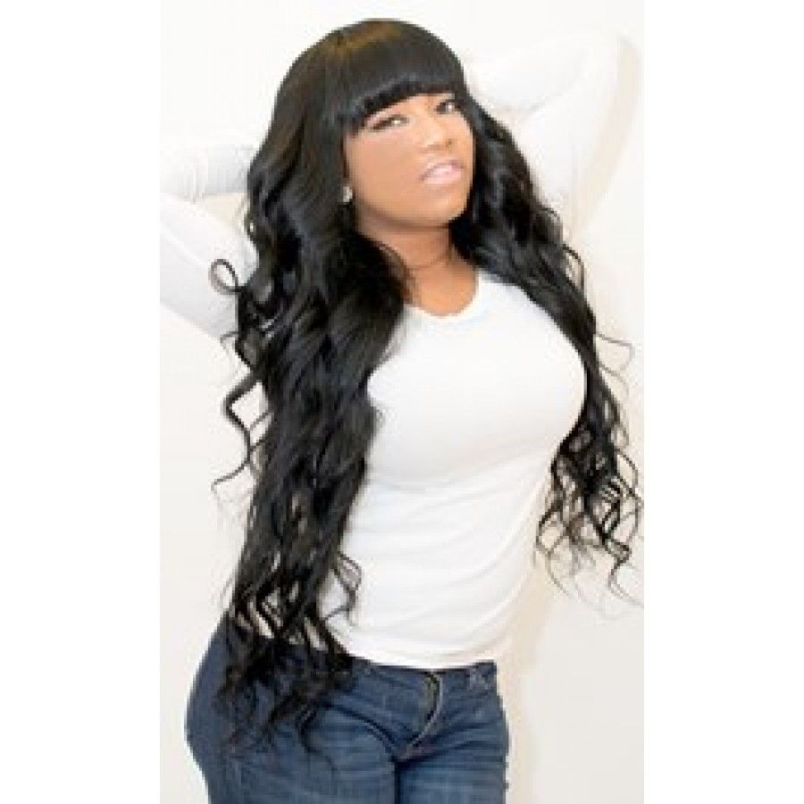 Wavy With Chinese Bangs Hairstyles I Like Pinterest