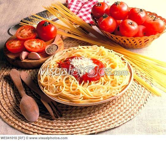 Spaghetti, Italian food