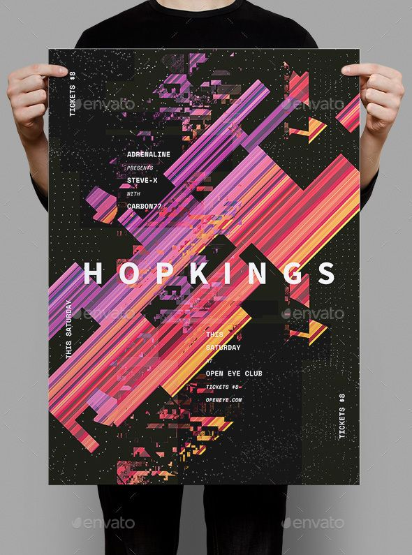 Hopkings Flyer / Poster Event flyers, Template and Graphics