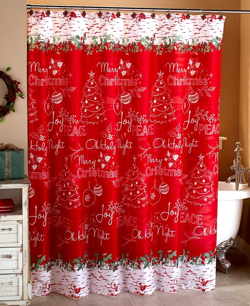 Chalkboard Look Holiday Bath Collection Christmas Bathroom Decor