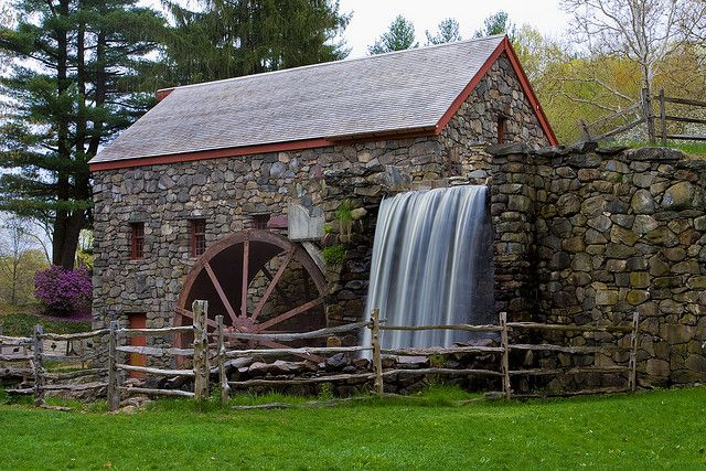 Grist Mill Water Wheel Windmill Water Grist Mill