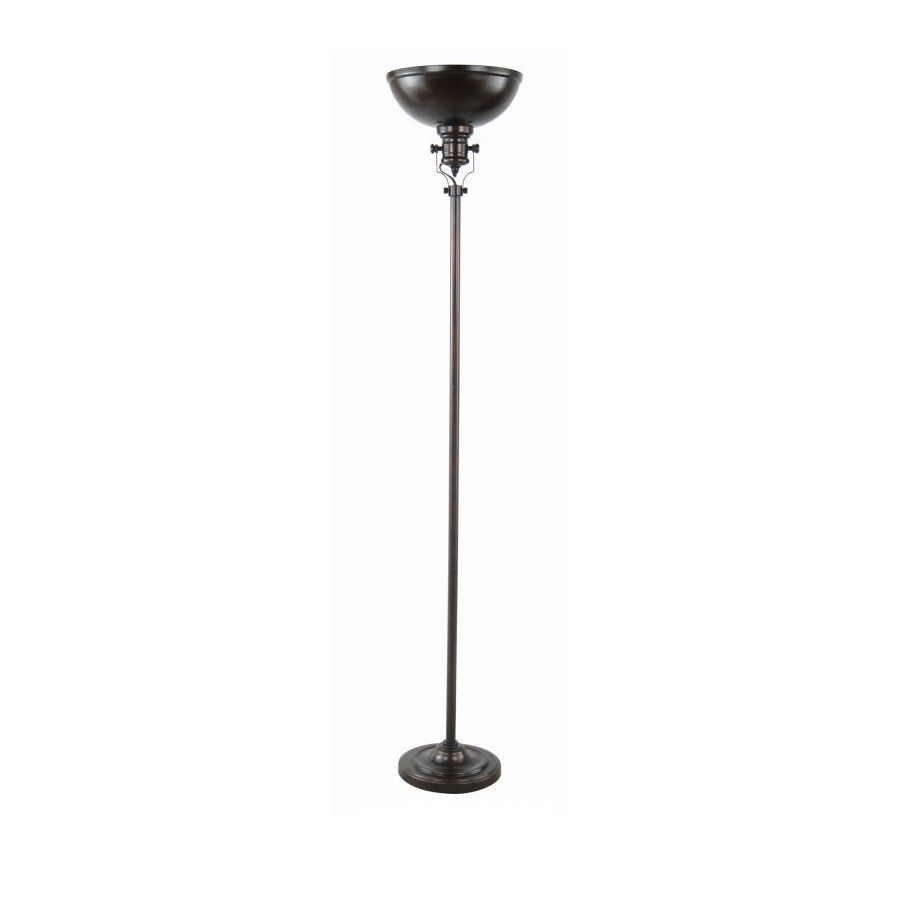 Shop 70 In 3 Way Switch Painted Oil Rubbed Bronze Torchiere Indoor Lamp Lowes Floor With Metal Shade At Lowescom