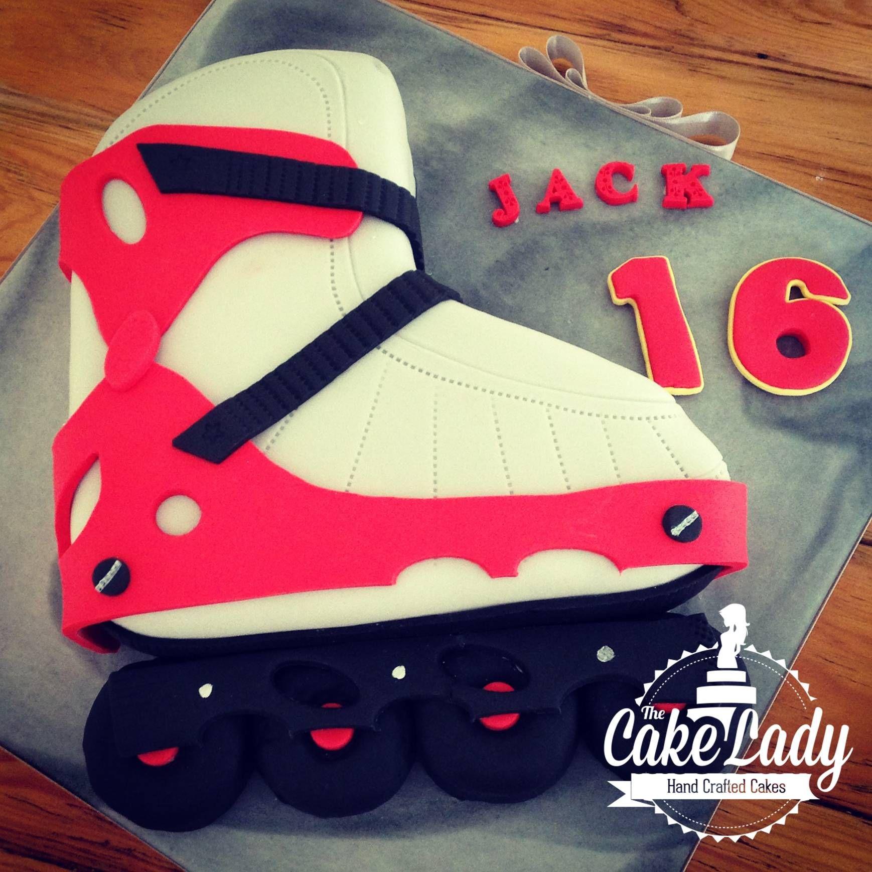 Rollerblade Cake Childrens Birthday Cakes Roller Skate Cake Rollerblade