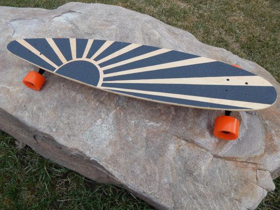 Longboard with custom Grip Tape by SpeedSticks on Etsy | Cool stuff