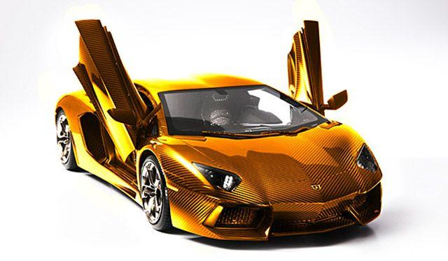 7 5 Million Solid Gold Lamborghini In Dubai Of Course Gold Lamborghini Lamborghini Aventador Expensive Cars