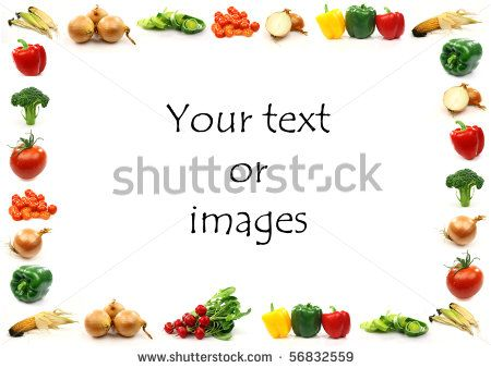 Food Borders Clip Art Vegetable Border With Room For Your Text Or Images On A White Clip Art Food Border Clip Art Borders