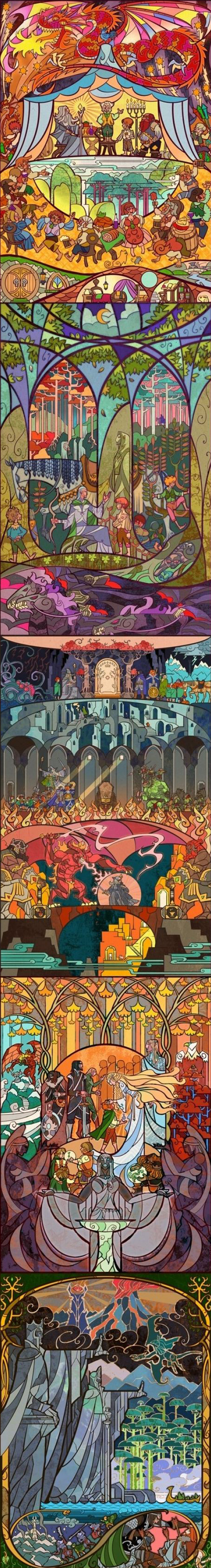 Lord of the Rings stain glass art by Jian Guo http://breath-art.deviantart.com/