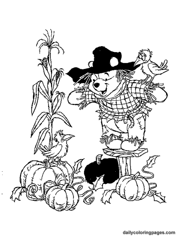 Winnie The Pooh Fall Coloring Pages 01 Png 600 800 Fall Coloring Pages Thanksgiving Coloring Pages Halloween Coloring Pages