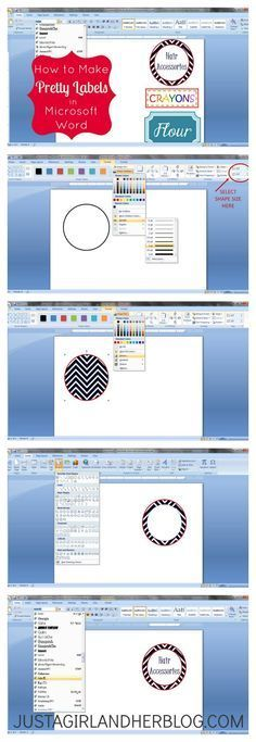 how to make labels in word