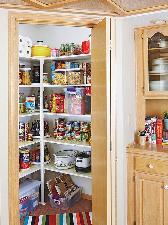 A Corner Pantry With An Angled Door Maximizes Storage E In The Kitchen Skip Expensive