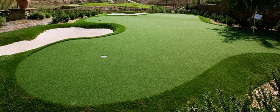 Artificial turf golf course