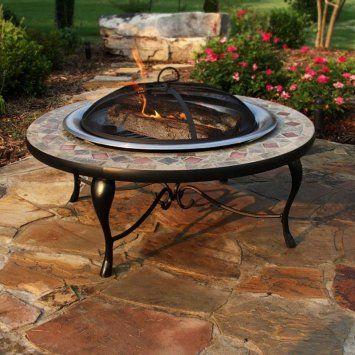 slate mosaic fire pit