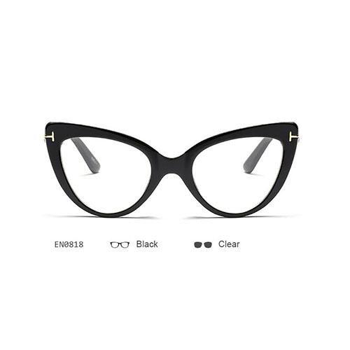 Vintage Brand Designer Cat Eye Sunglasses Big Frames Women UV400 T ...