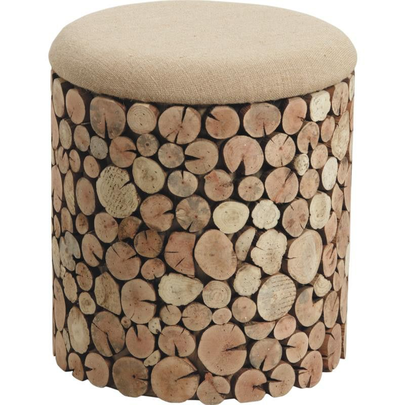 pouf coffre rondins en sapin et jute sur pouf coffre rondin et gaspard. Black Bedroom Furniture Sets. Home Design Ideas